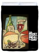 Wine And Cheese Imported Meal Duvet Cover