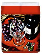 Wine And Dine Duvet Cover