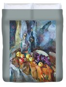 Wine And Fruit Duvet Cover