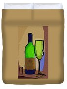 Wine And Glass Duvet Cover