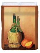 Wine And Oranges Duvet Cover