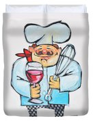 Wine And Wisk Chef Duvet Cover
