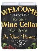 Wine Cellar Sign 1 Duvet Cover