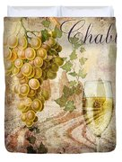 Wine Country Chablis Duvet Cover