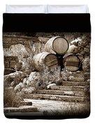 Wine Country Sepia Vignette Duvet Cover