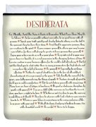 Wine Framed Sunburst Desiderata Poem Duvet Cover