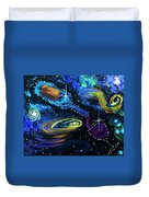 Wine Galaxy Duvet Cover