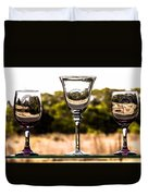 Wine Glass Duvet Cover