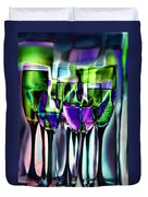 Wine Glasses With Colorful Drinks  Duvet Cover