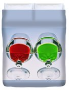 Wine Glasses With Drinks Duvet Cover
