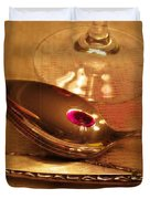 Wine In The Spoon Duvet Cover