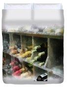 Wine Rack Mixed Media 01 Duvet Cover