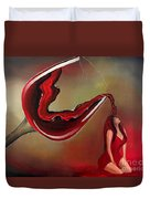 Wine-showered Woman Duvet Cover