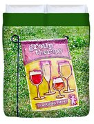 Wine Sign Duvet Cover