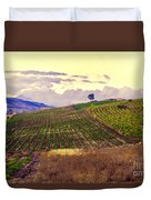 Wine Vineyard In Sicily Duvet Cover