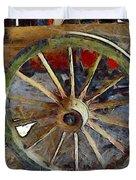 Wine Wagon Wheel Duvet Cover