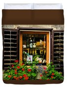 Wine Window Duvet Cover