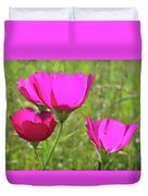 Winecup Flowers In Sunlight Duvet Cover