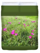 Winecup Flowers Duvet Cover