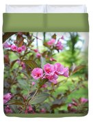Wines And Rose Weigela Duvet Cover