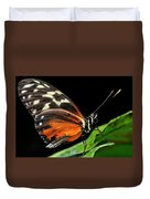 Wing Texture Of Eueides Isabella Longwing Butterfly On A Leaf Ag Duvet Cover