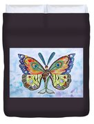 Winged Metamorphosis Duvet Cover by Lucy Arnold