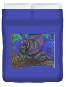 Winged Panther Kitten Cub Duvet Cover
