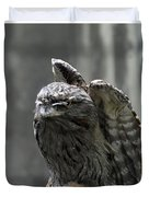 Wings Above A Tawny Frogmouth That Looks Interesting Duvet Cover