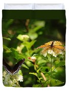 Wings And Blooms Duvet Cover