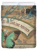 Wings Of Love Duvet Cover by Debbie DeWitt