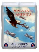 Wings Over America - Air Corps U.s. Army Duvet Cover