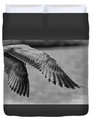 Wings Over Water Beach Pictures Black And White Seagull Duvet Cover