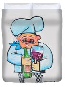 Wining Chef Duvet Cover