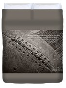 Winning Quote From Vince Lombardi Duvet Cover