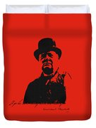 Winston Churchill - A Joke Is A Very Serious Thing Duvet Cover