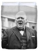 Winston Churchill Campaigning - 1945 Duvet Cover