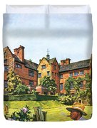 Winston Churchill Painting At Chartwell Duvet Cover