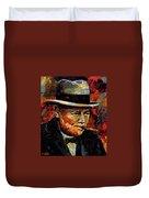 Winston Churchill Portrait Duvet Cover
