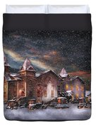Winter - Clinton Nj - Silent Night  Duvet Cover