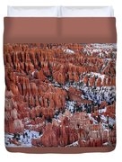 Winter Afternoon At Inspiration Point Bryce Canyon National Park  Utah Duvet Cover