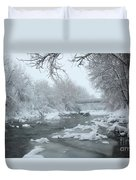 Winter Along Clear Creek Duvet Cover
