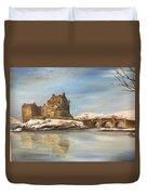 Winter At Eilean Donan Duvet Cover