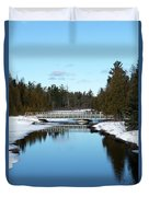 Winter At Hickey Creek Duvet Cover