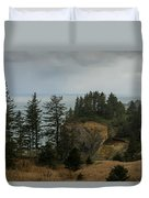 Winter At Oswald West Duvet Cover