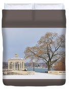 Winter At The Waterworks Duvet Cover