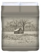 Winter At Valley Forge Duvet Cover