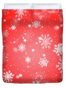 Winter Background With Snowflakes. Duvet Cover