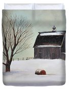 Winter Barn II Duvet Cover
