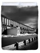 Winter Bates Mill Duvet Cover by Bob Orsillo