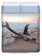 Winter Beach Duvet Cover